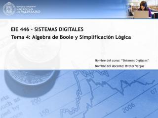 Algebra de Boole y Simplificación Lógica.pdf