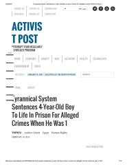 Tyrannical System Sentences 4-Year-Old Boy to Life in Prison for Alleged Crimes When He Was 1.pdf
