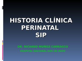 Clase 1 - HC perinatal.ppt