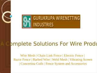 Wire-Mesh Manufacturers India.pptx