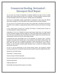 Commercial Roofing  Bettendorf - Davenport Roof Repair.doc