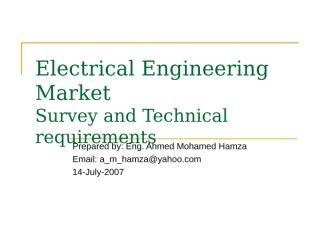 Electrical Engineering Market.ppt