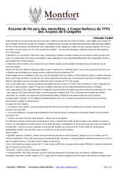 Resumo de 'No País Das Maravilhas A Gnose Burlesca Da TFP E Dos Arautos Do Evangelho' - Orlando Fedeli.pdf