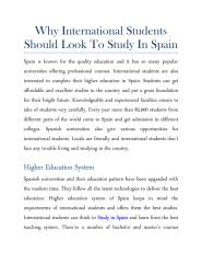 Why International Students Should Look To Study In Spain.pdf