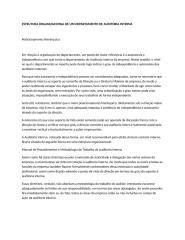 ESTRUTURA ORGANIZACIONAL DE UM DEPARTAMENTO DE AUDITORIA INTERNA.docx