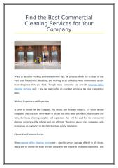Find the Best Commercial Cleaning Services for Your Company.doc
