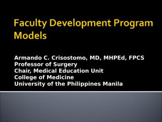 42nd-APMC-Convention-Faculty Development Program Models.ppt