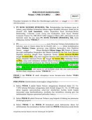 Contoh PKS brokerage Indonesia.doc