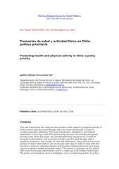 Promoción de salud y actividad física en Chile.doc
