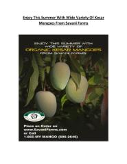 Enjoy This Summer With Wide Variety Of Kesar Mangoes From Savani Farms.pdf