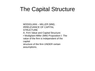The Capital Structure-MM.ppt