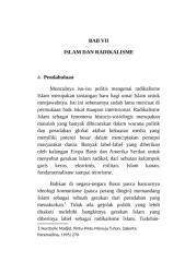 BAB VII (RADIKALISME ISLAM).rtf