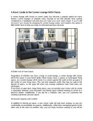A Basic Guide to the Corner Lounge With Chaise.pdf