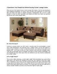 3 Questions You Should Ask Before Buying Corner Lounge Suites.pdf
