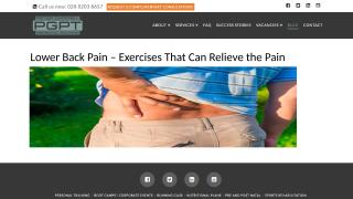 Lower back pain – exercises that can relieve the pain.pptx