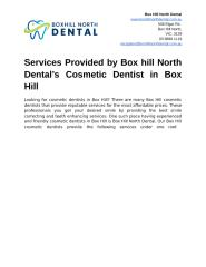 Services Provided by Boxhill North Dental's Cosmetic Dentist in Box Hill.docx
