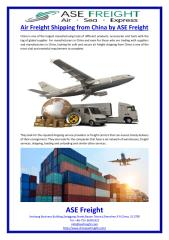 Air Freight Shipping from China by ASE Freight.pdf
