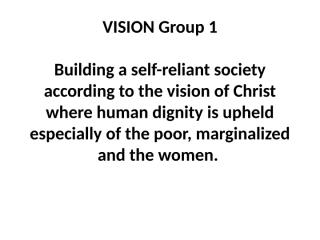 VISION Group work.ppt