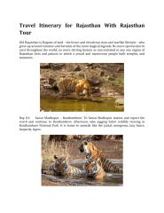 Travel Itinerary for Rajasthan With Rajasthan Tour.pdf