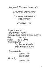 Experiment #   1.doc